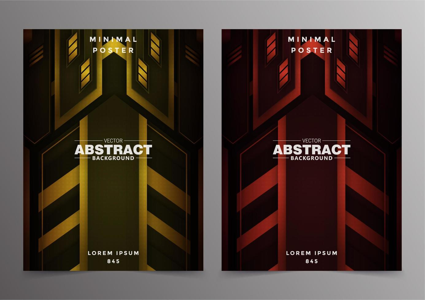 Abstract tech minimal covers design vector
