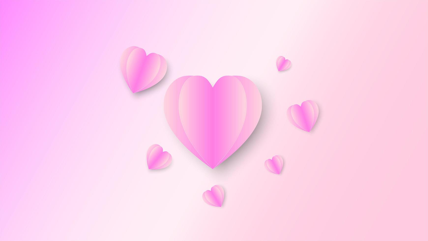 Pink heart abstract vector
