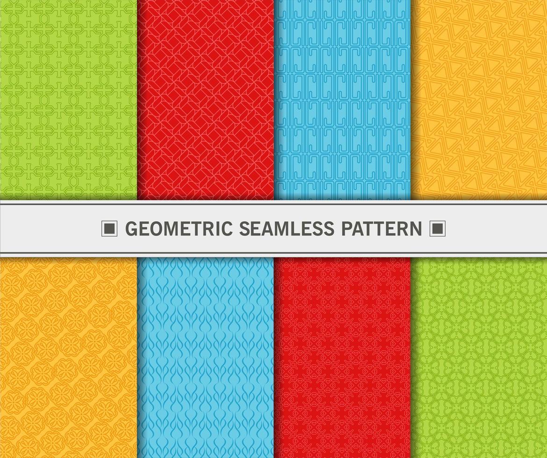 Geometric seamless pattern set vector