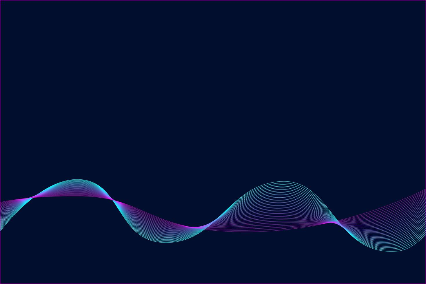 Abstract pattern wave neon background. vector