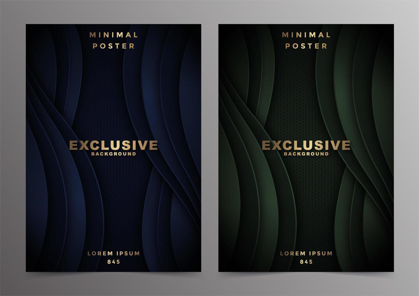 diseño de portadas mínimas de onda abstracta de lujo vector