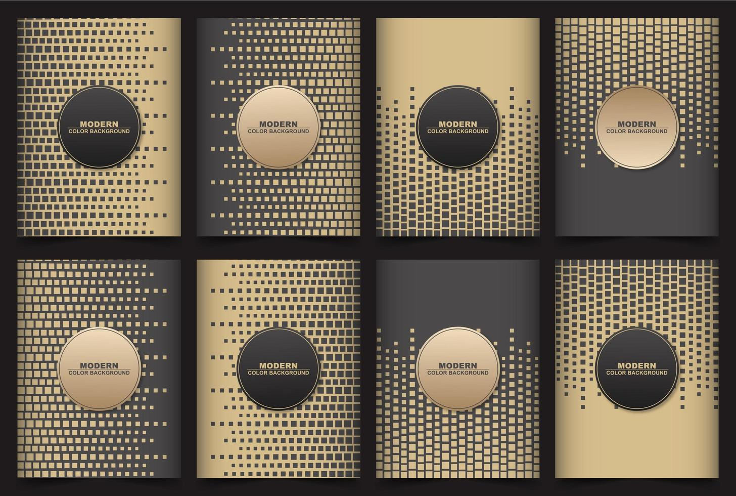 Geometric cube background with brown and black colors vector