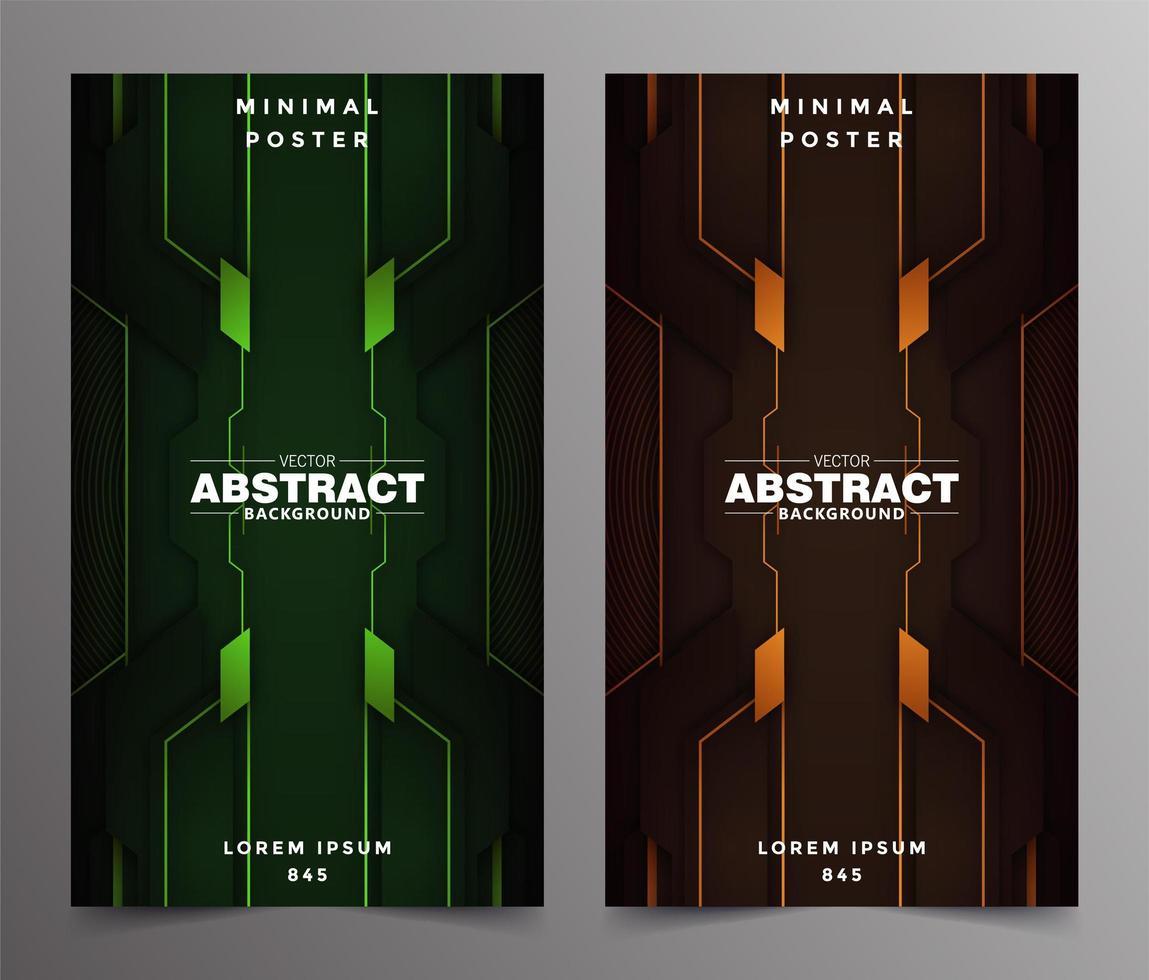 diseño de cubiertas minimalistas de tecnología abstracta de lujo vector