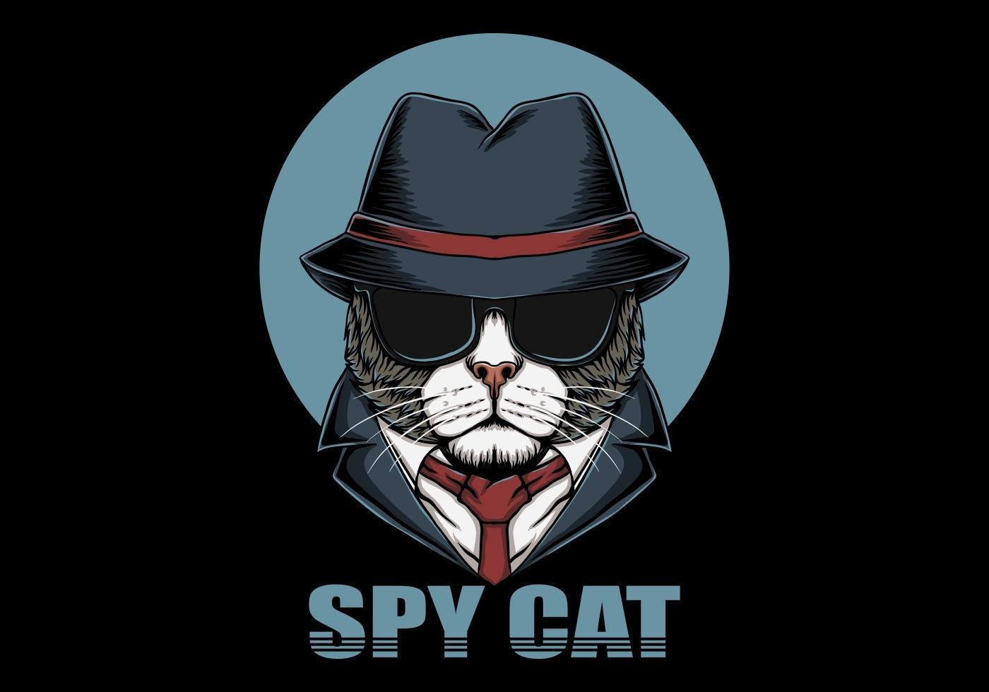 cabeza de gato espía vector