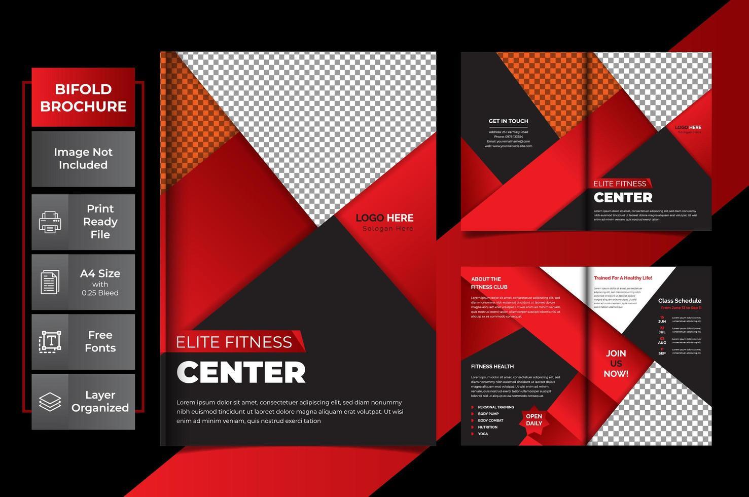 plantilla creativa multipropósito de páginas rojas vector