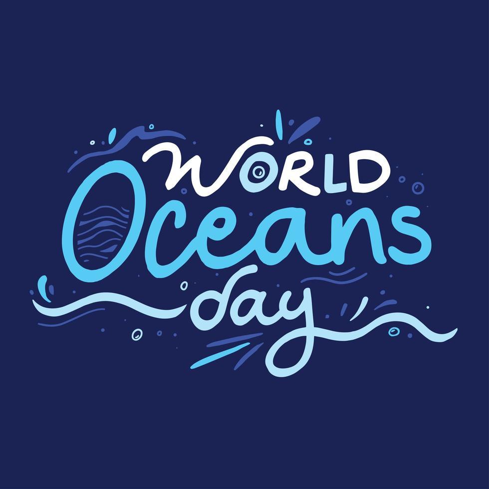cartel del día mundial de los océanos vector