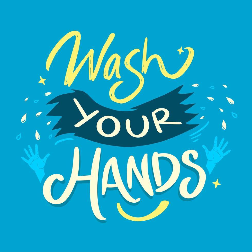 lave sus manos garabato vector