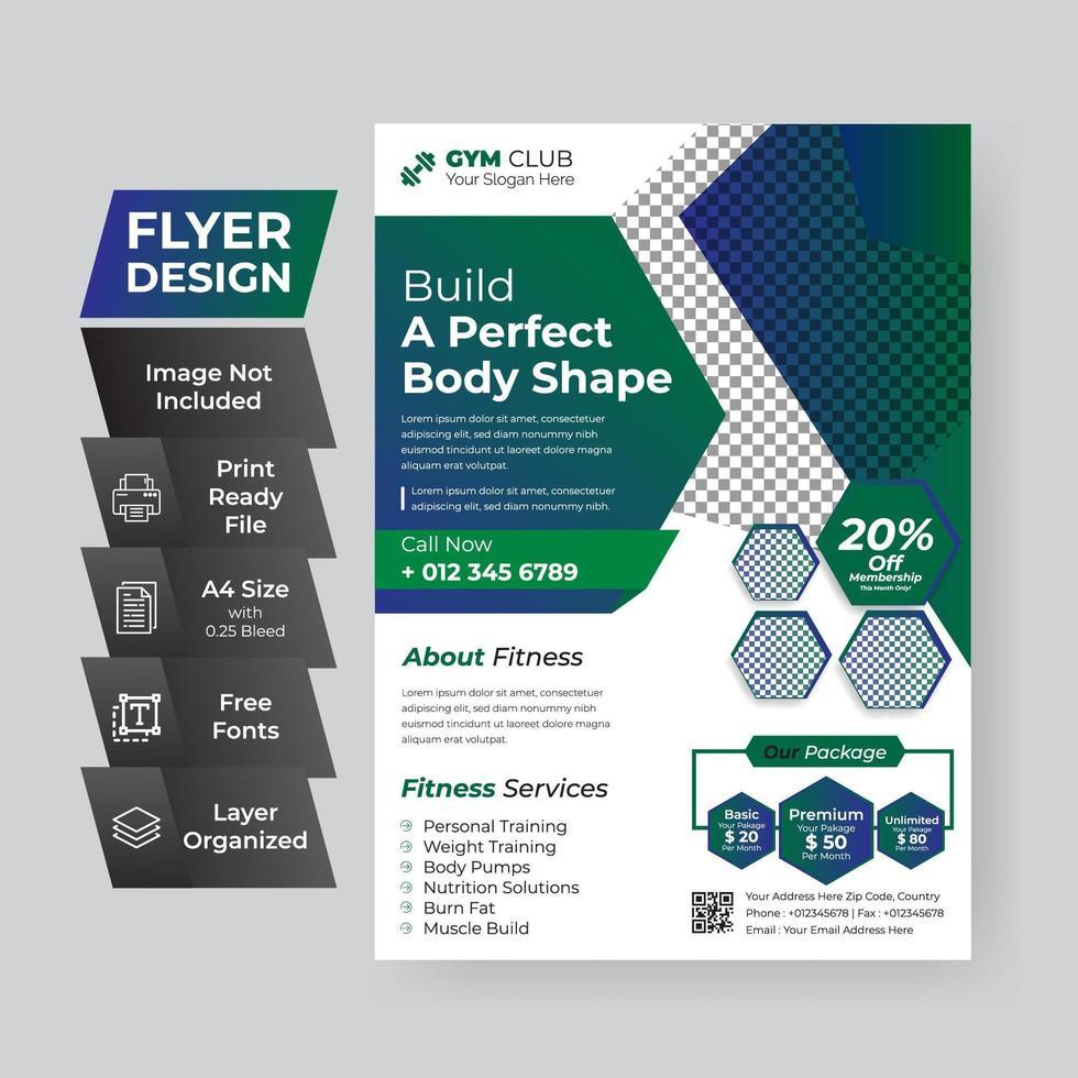 Gradient Corporate Business Flyer  vector