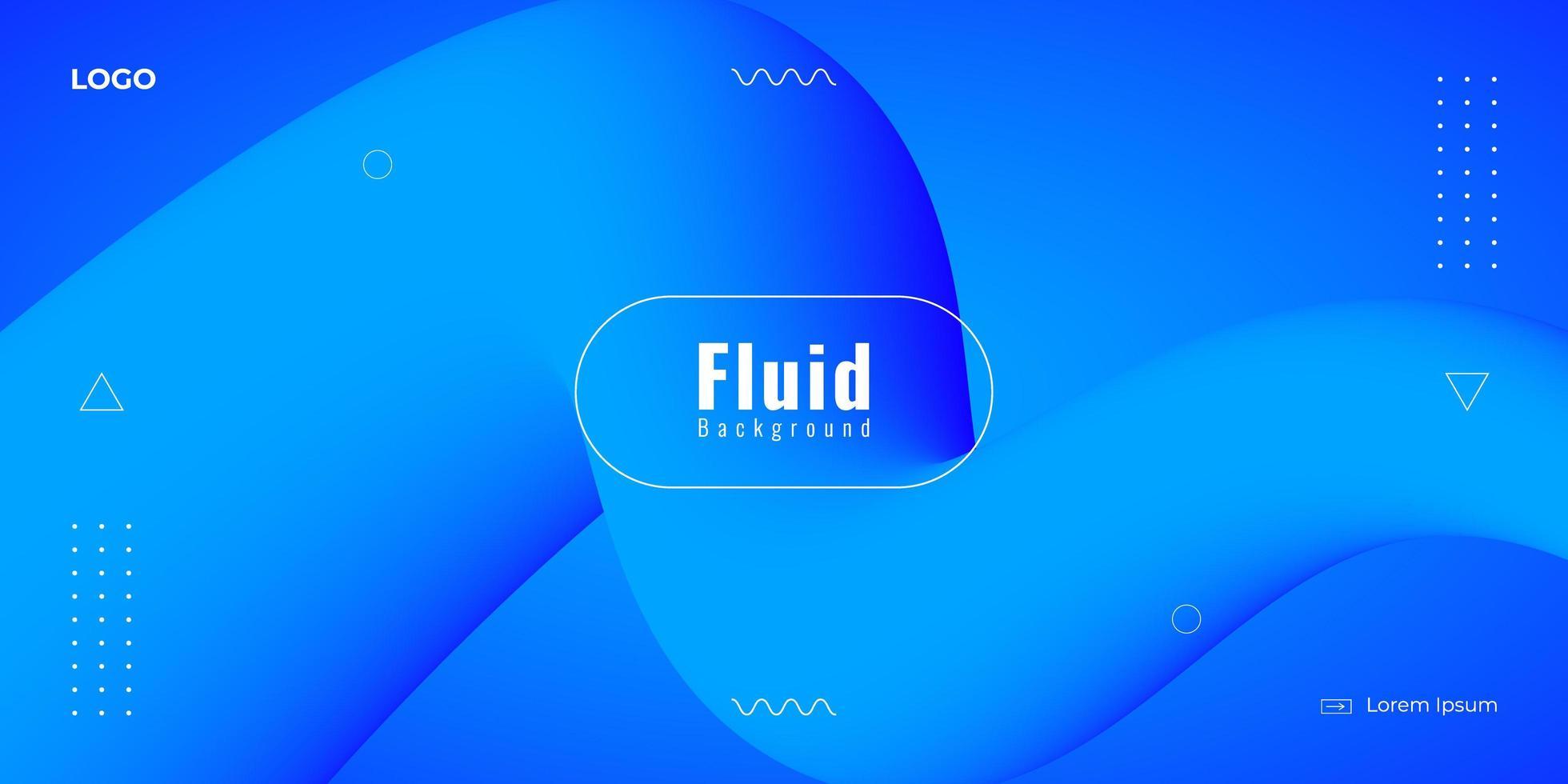 Fondo abstracto fluido moderno en colores azules vector