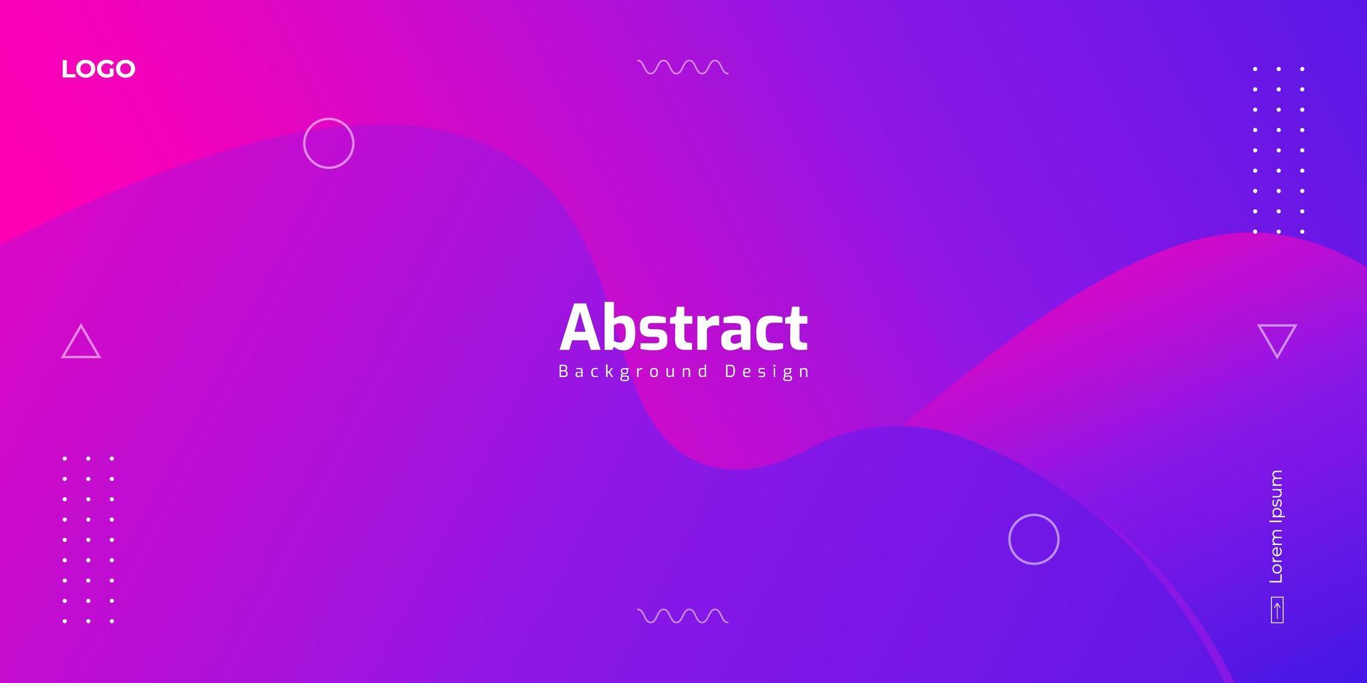 formas líquidas gradientes de color rosa púrpura con elementos geométricos vector