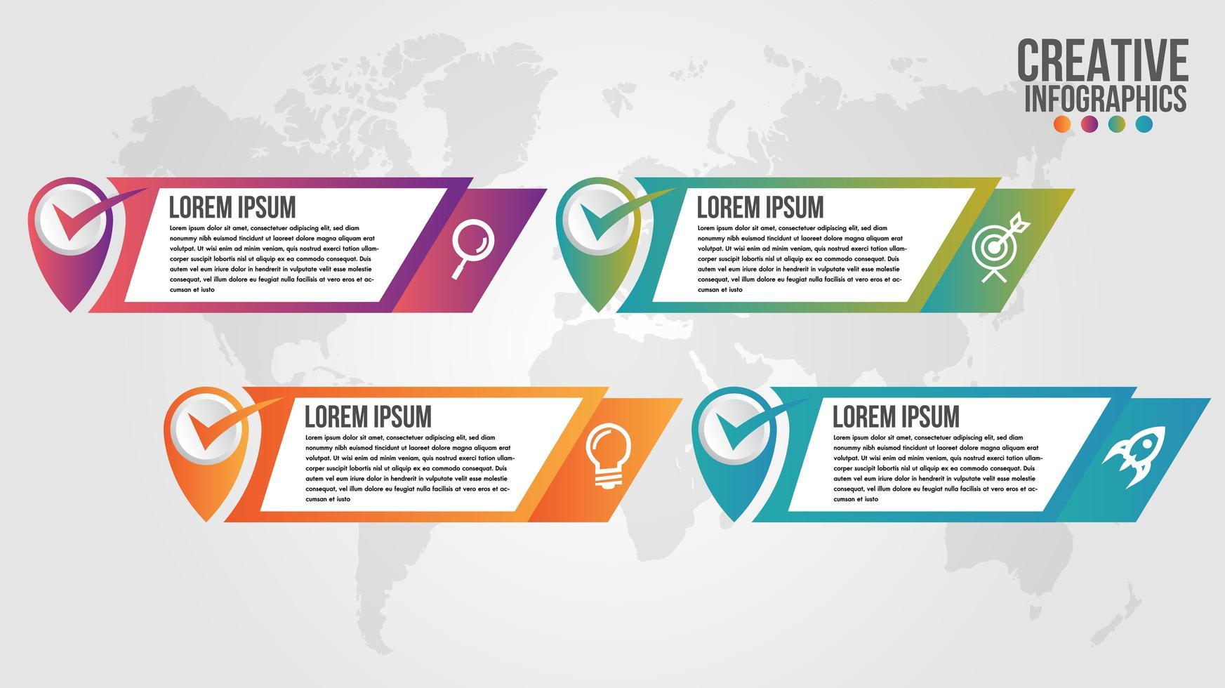 Angledbanner infographic modern timeline design vector