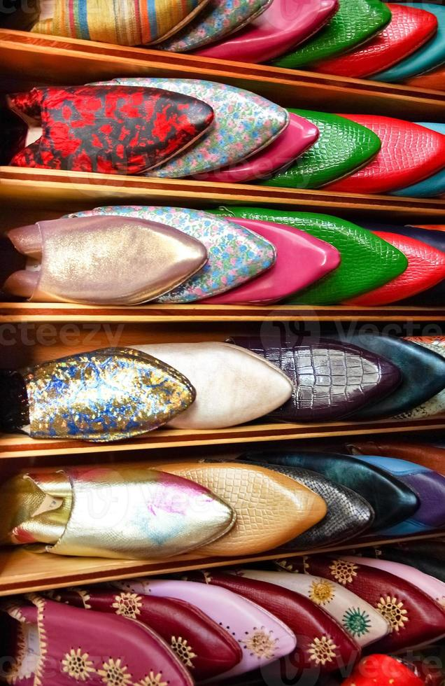 zapatos marroquíes foto