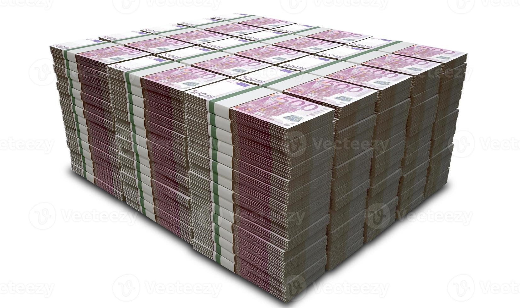 pila de billetes de euro foto