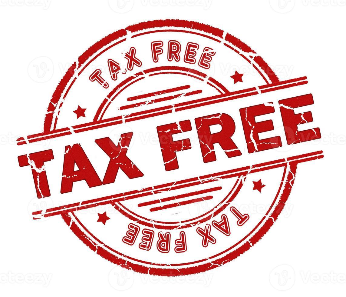 tax free stamp photo