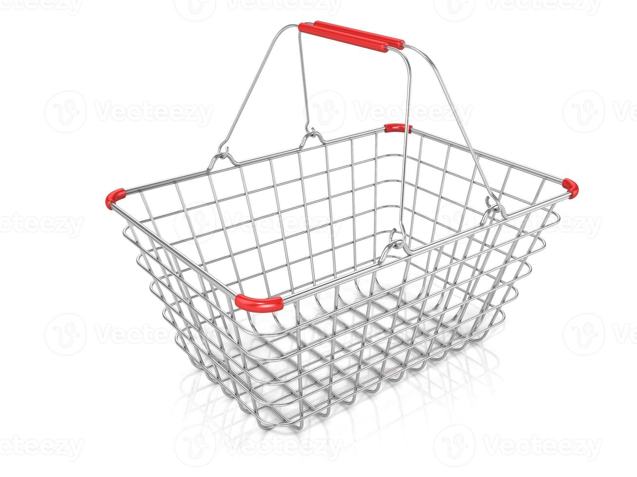 Steel wire shopping basket photo