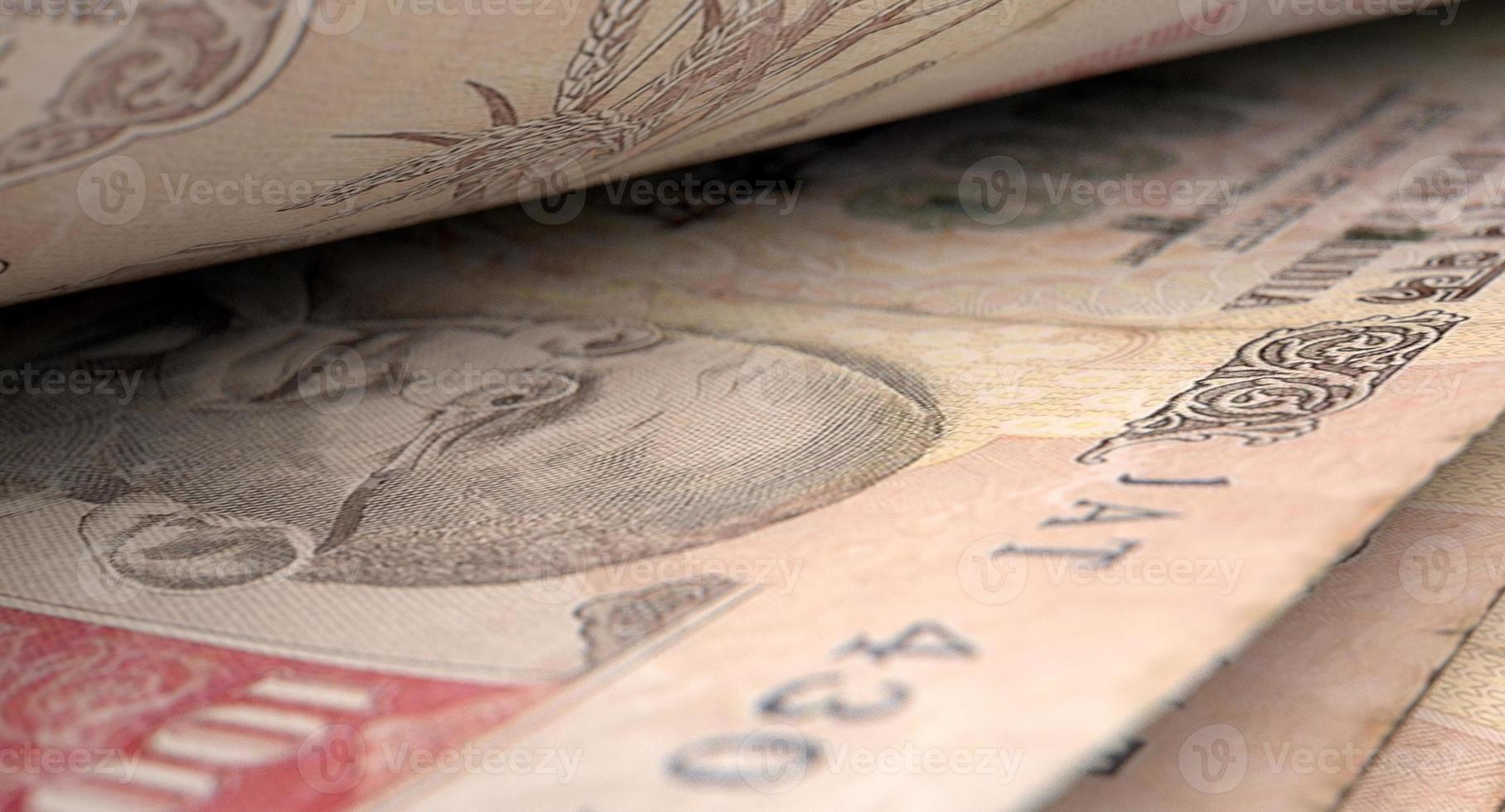 detalle de primer plano de billetes separados foto