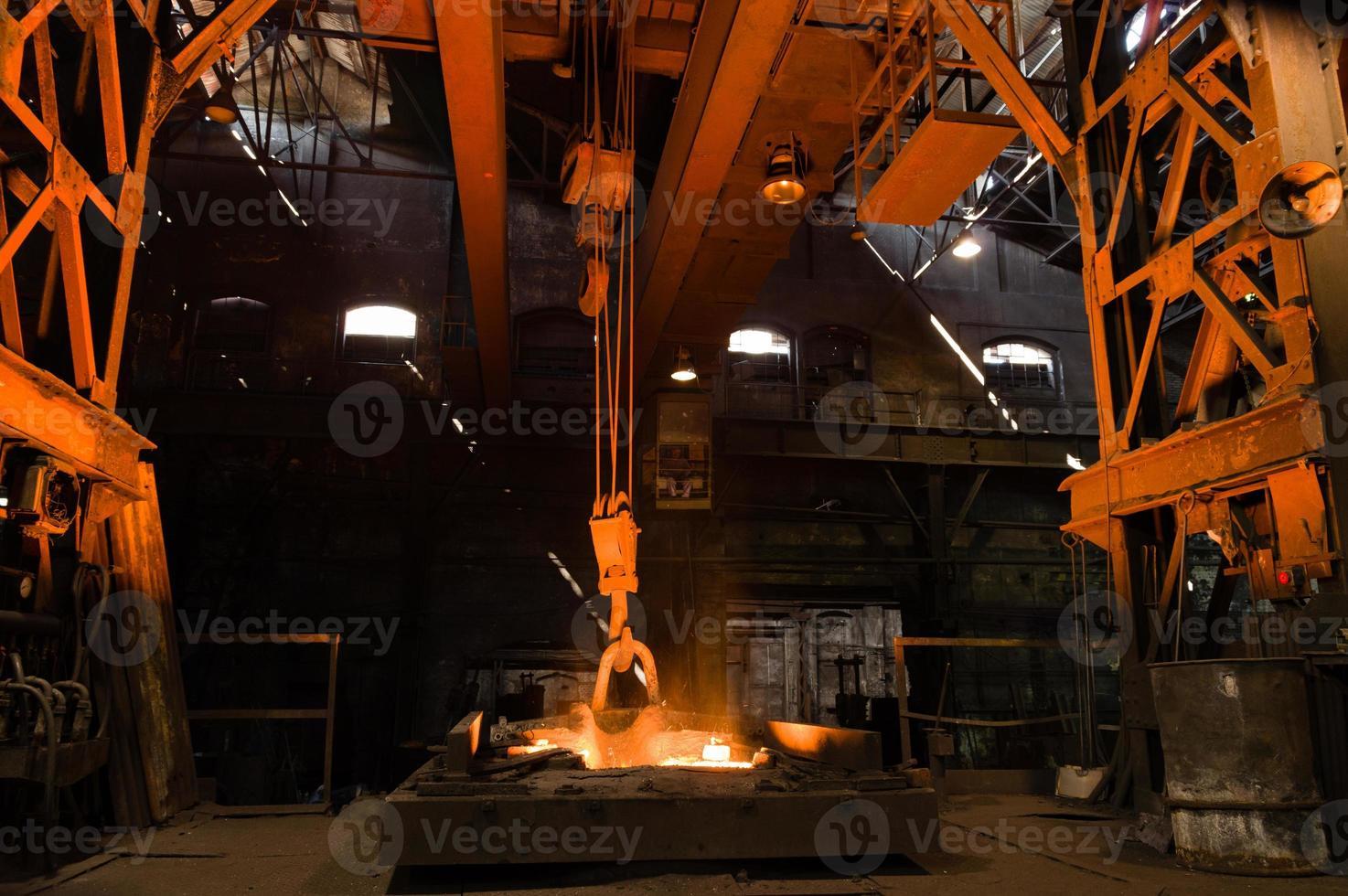 Furnace with Hot Liquid Metal photo
