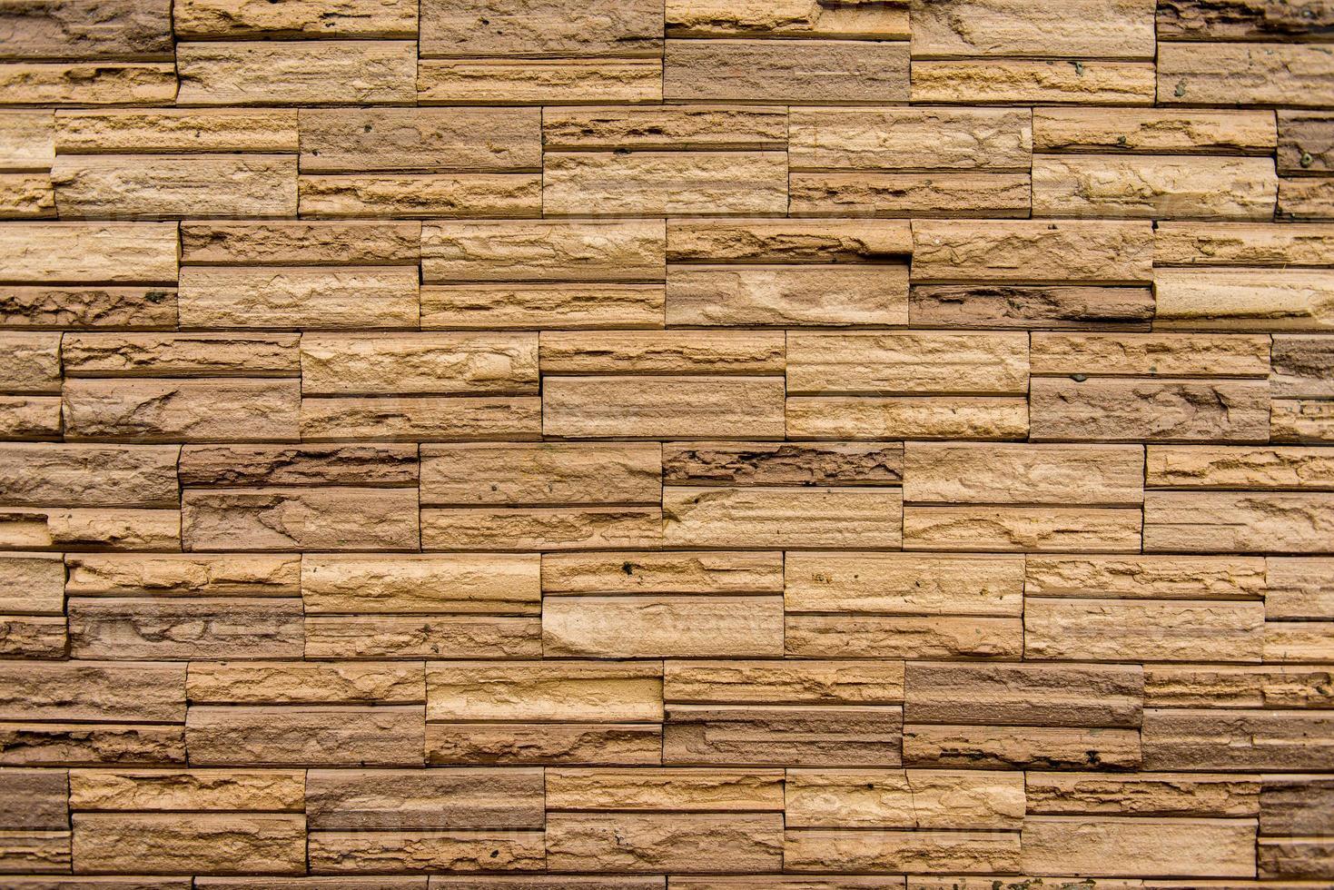 stenen muur gemaakt met blokken foto