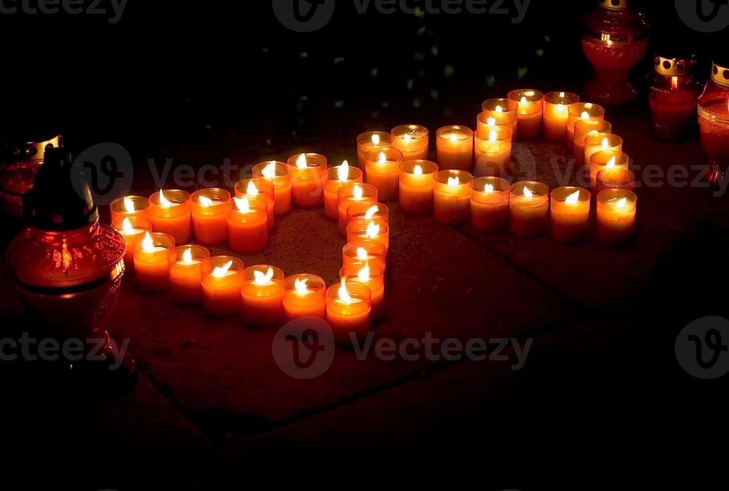 Hearts of light. photo