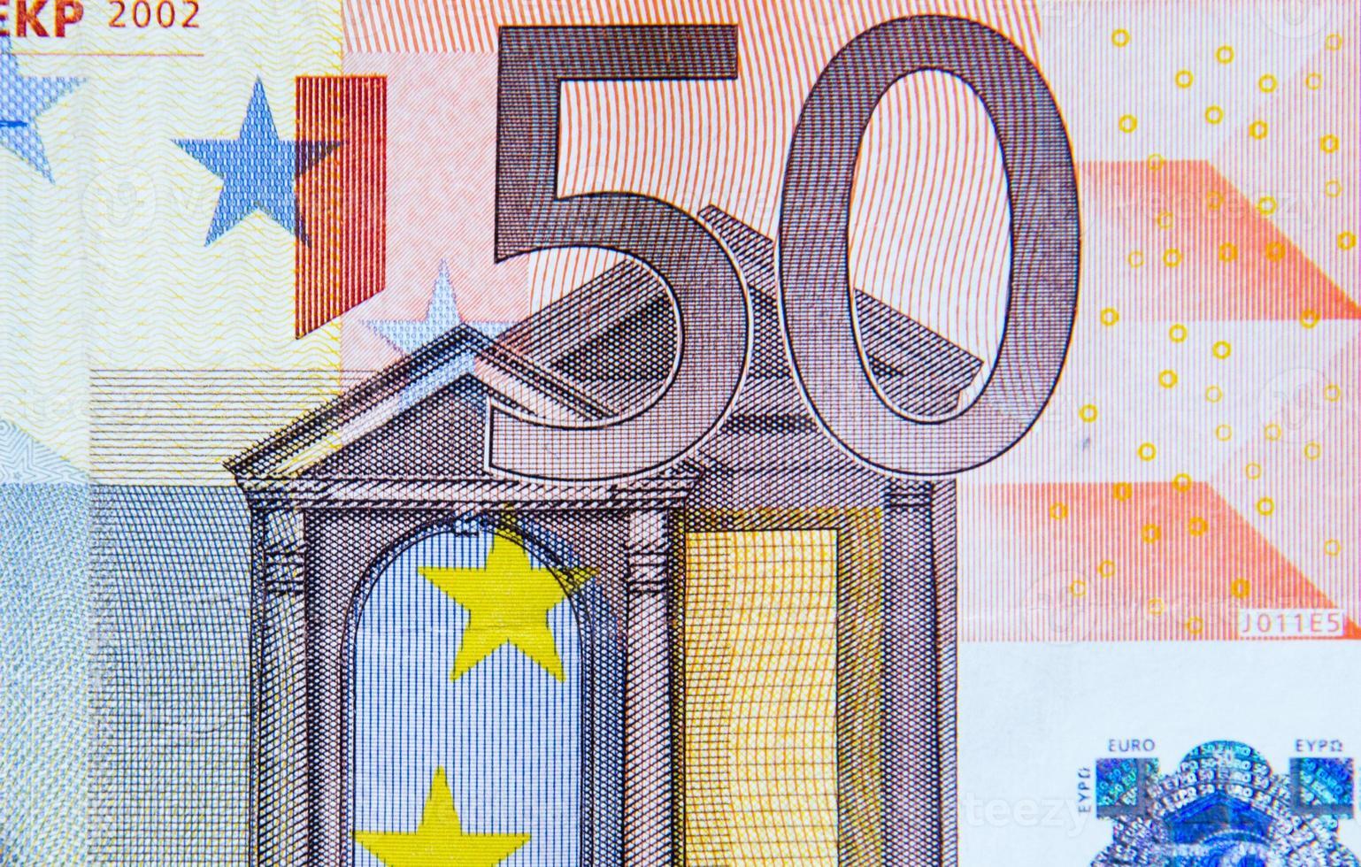 Billete de 50 euros foto