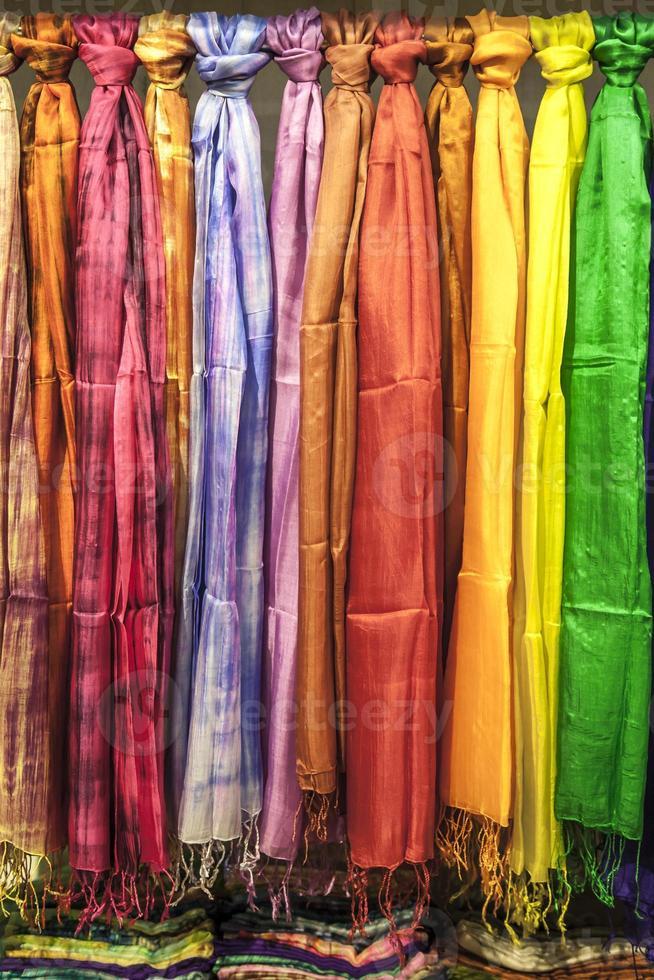 Series of silk pashminas photo