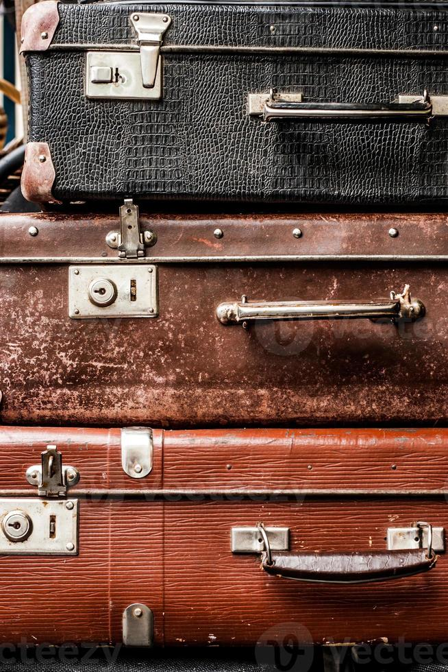 Old vintage suitcases photo