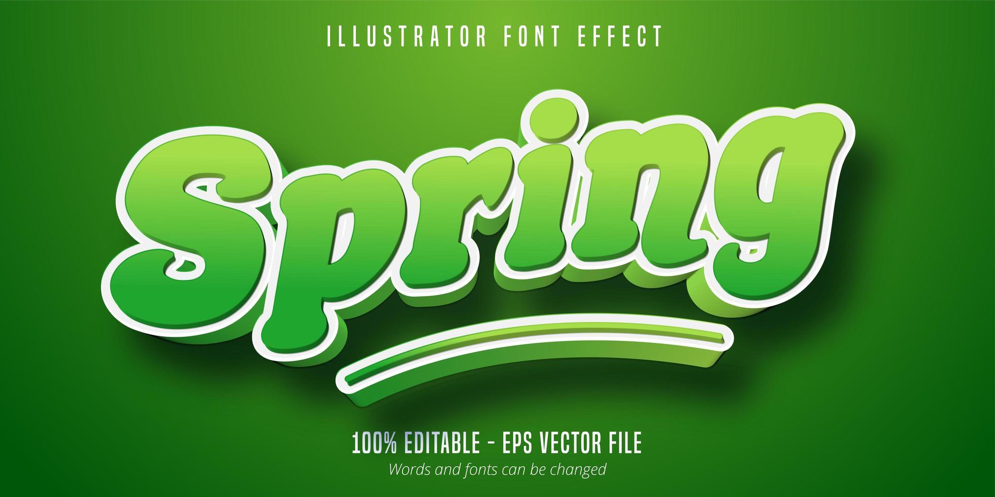 efecto de texto de primavera vector