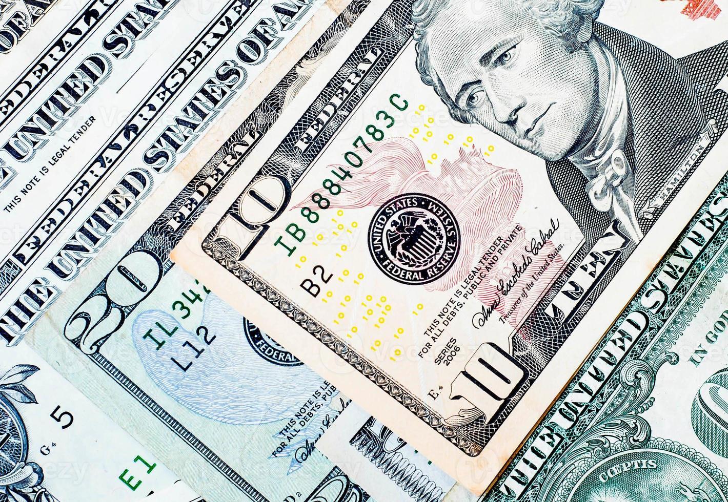 US. dollar bills background photo