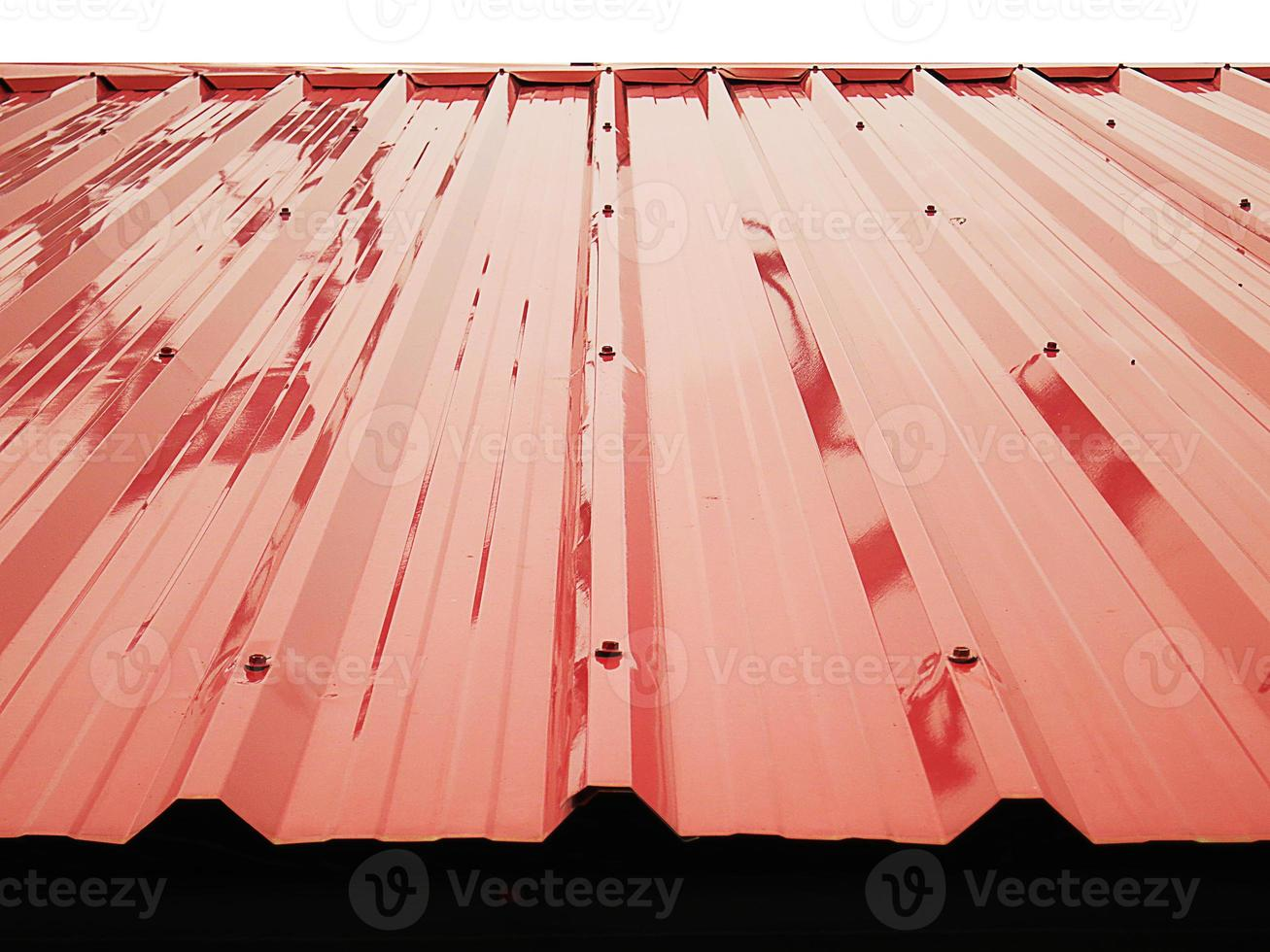 Metal sheet roofs reflection photo