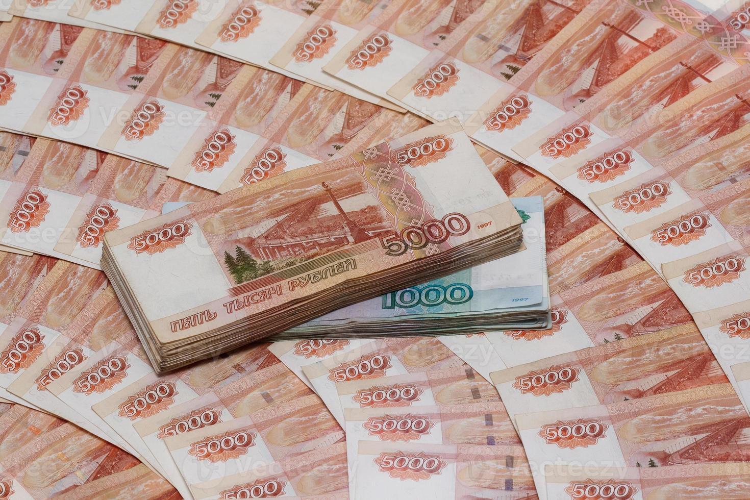 rublos rusos (moneda rusa) foto