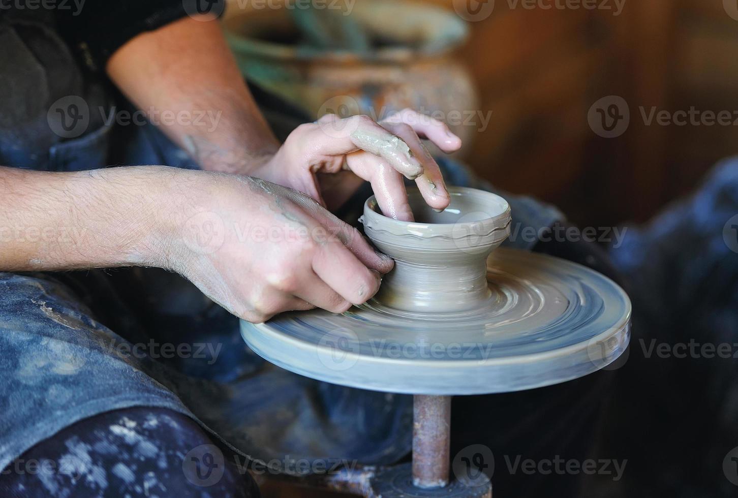 rueda de alfarero foto
