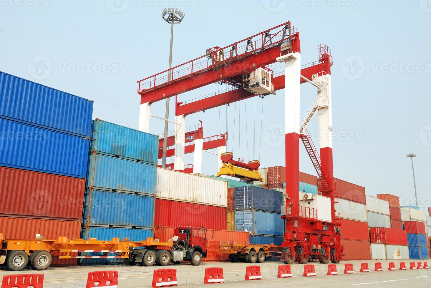 Port container yard photo