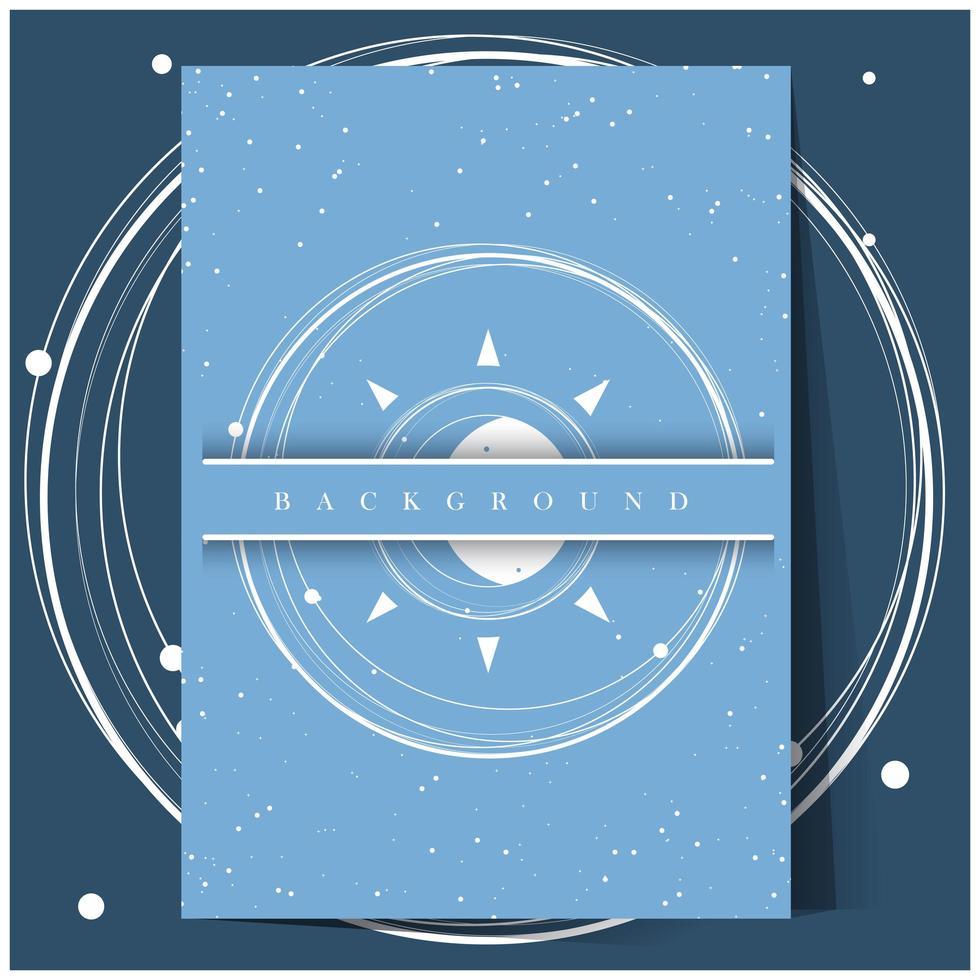 Fondo abstracto universo azul vector