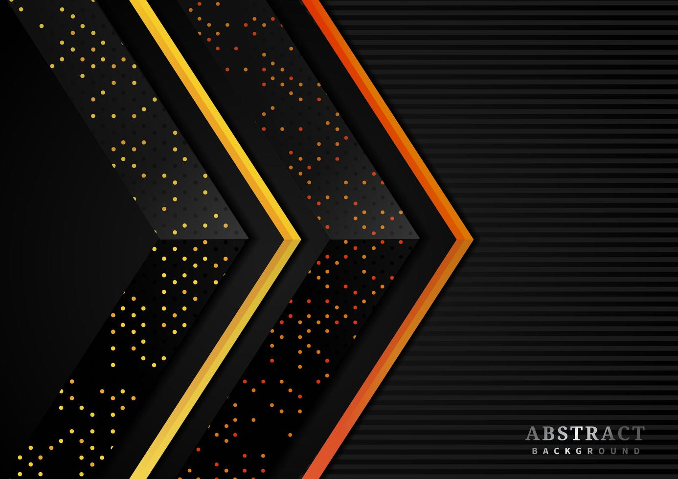 Orange and Gold Dots Arrow Background vector