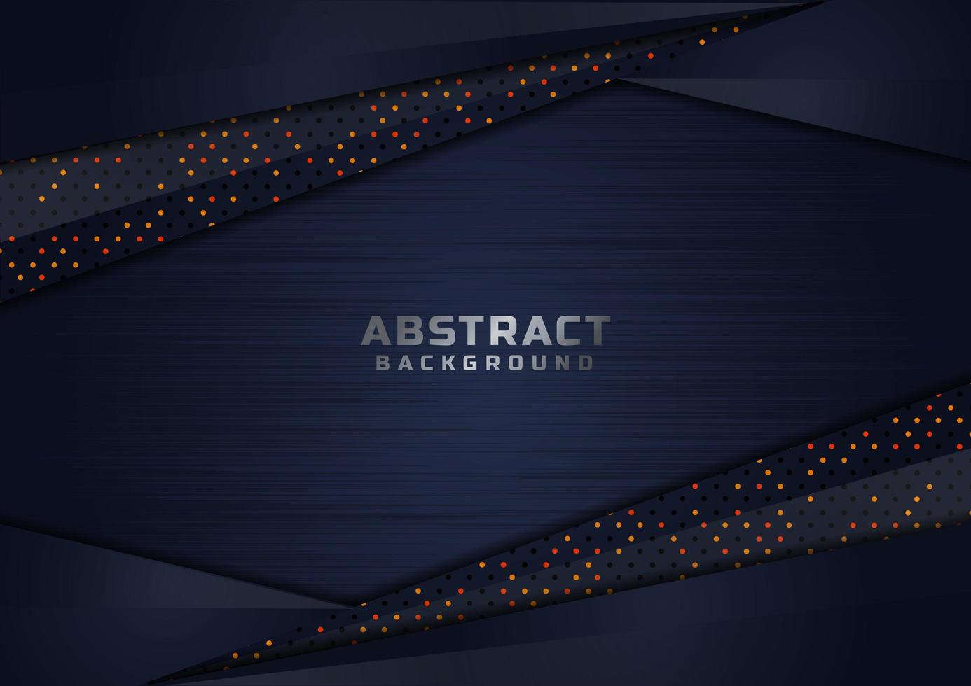 Abstract Dark Blue Overlapping Glittering Shapes Luxury Background  vector