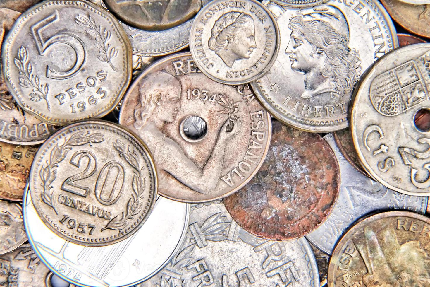 Old coins photo