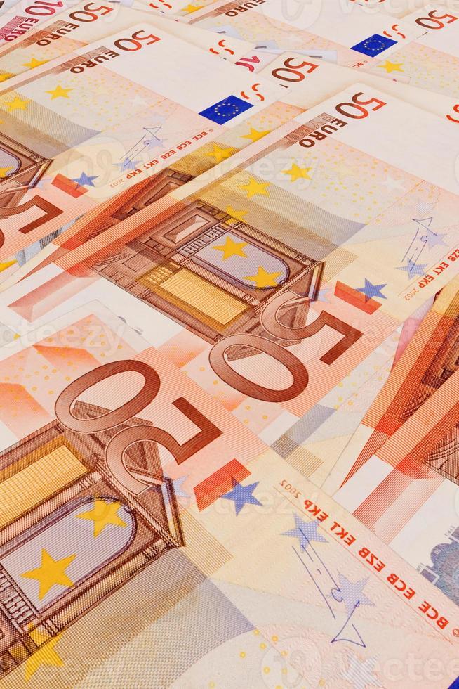 5, 10, 20, 50  Euro banknotes photo