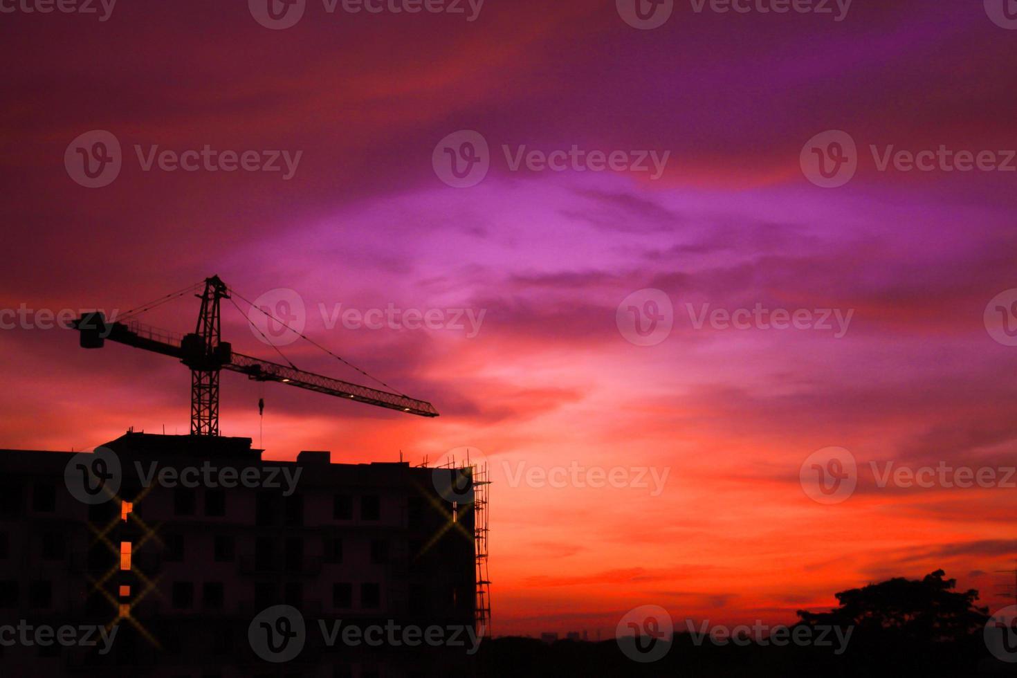 sitio de construcción del edificio foto