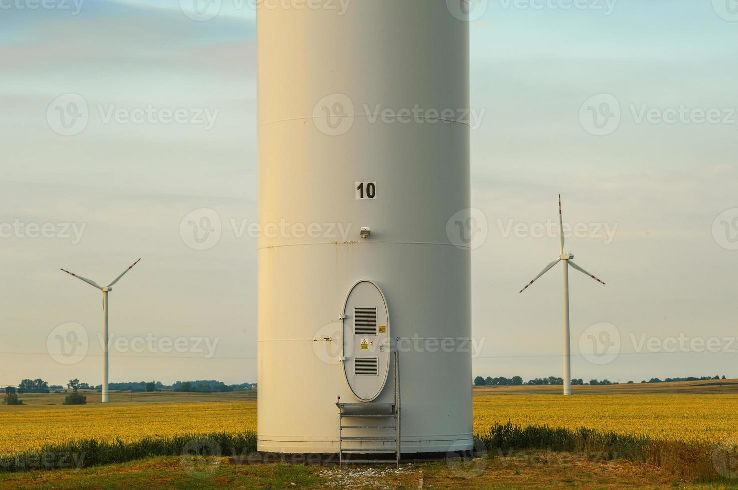 windmill, group of aligned windmills for electric power generation alternative photo