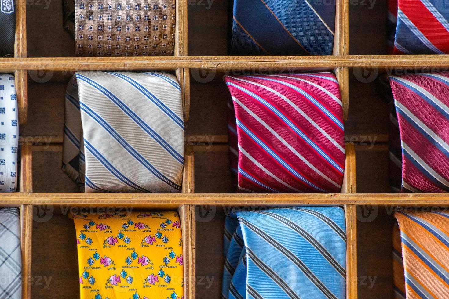 italian made in italy silk tie on display photo