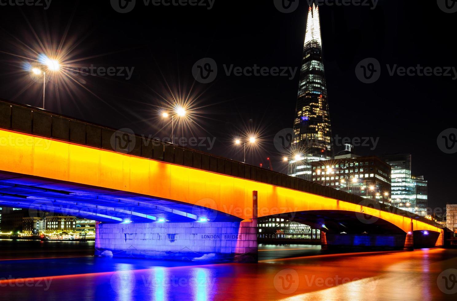 London, London Bridge at night photo