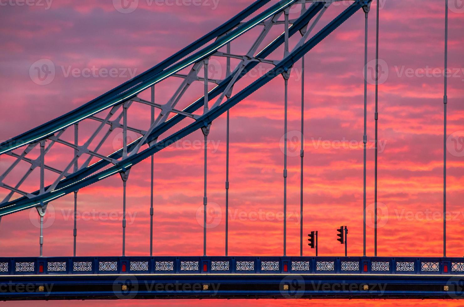London, sunrise on Tower Bridge photo