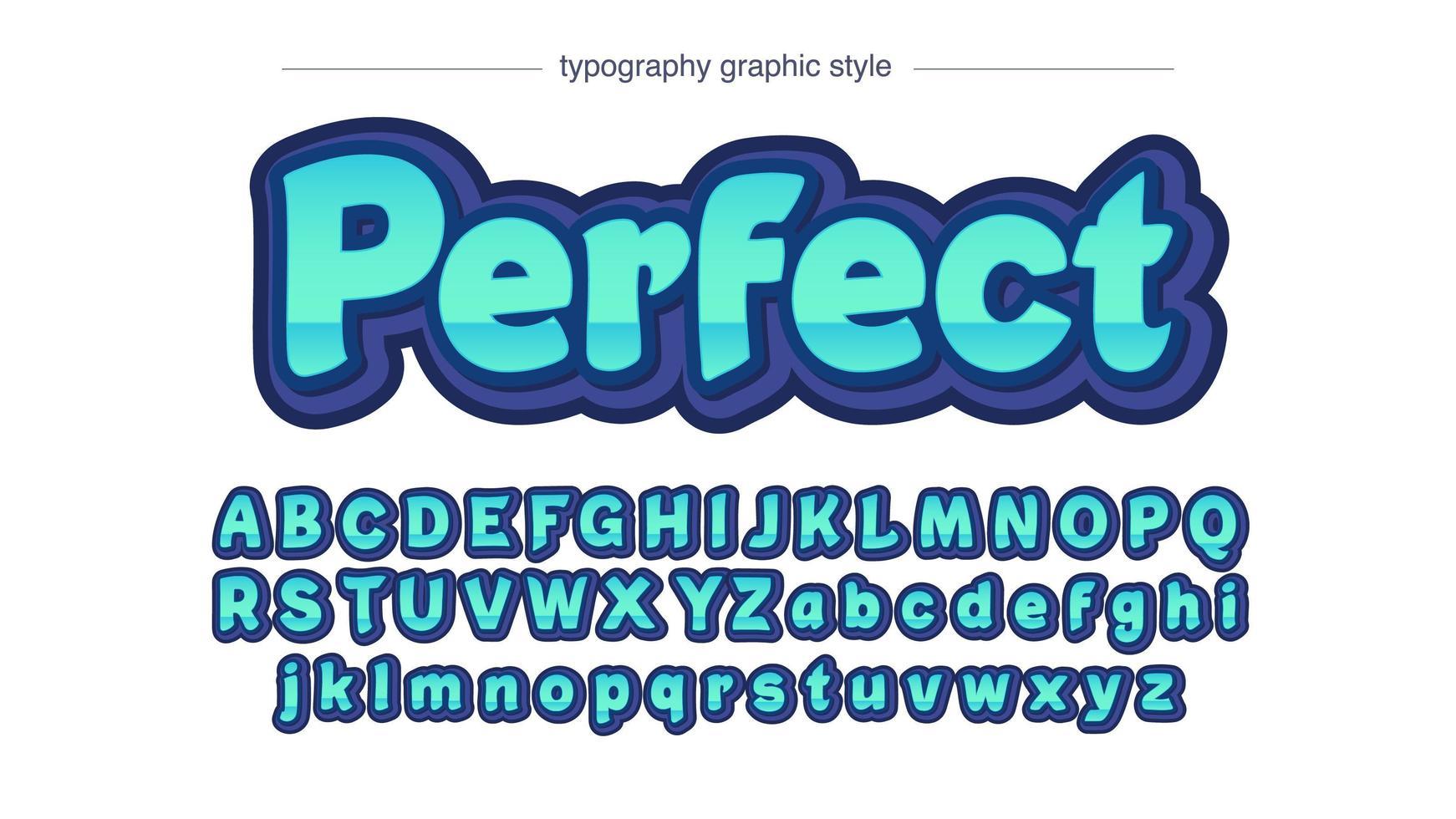 tipografia sans serif in grassetto verde intenso 3d vettore