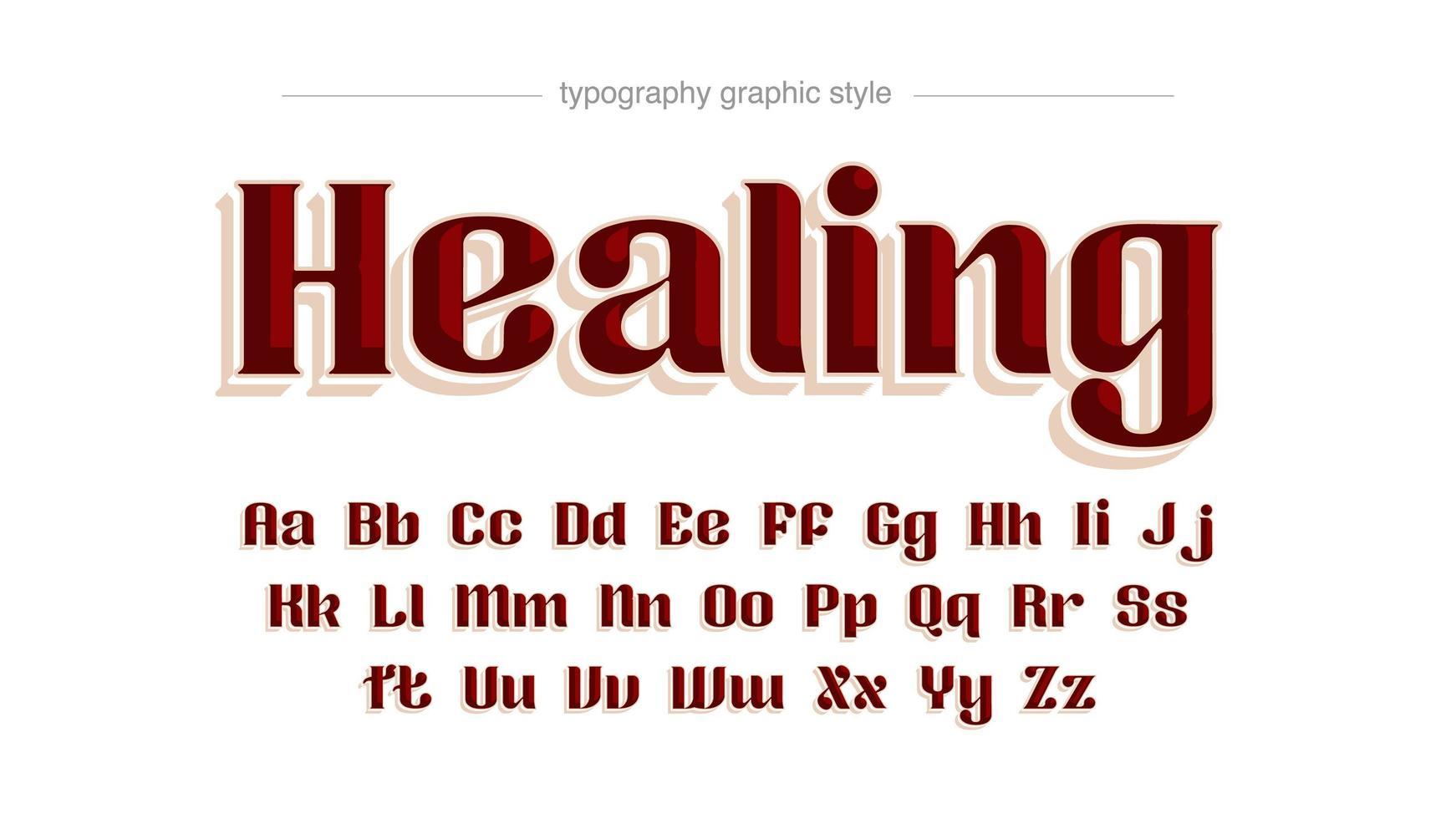 tipografia serif retrò rosso elegante vettore