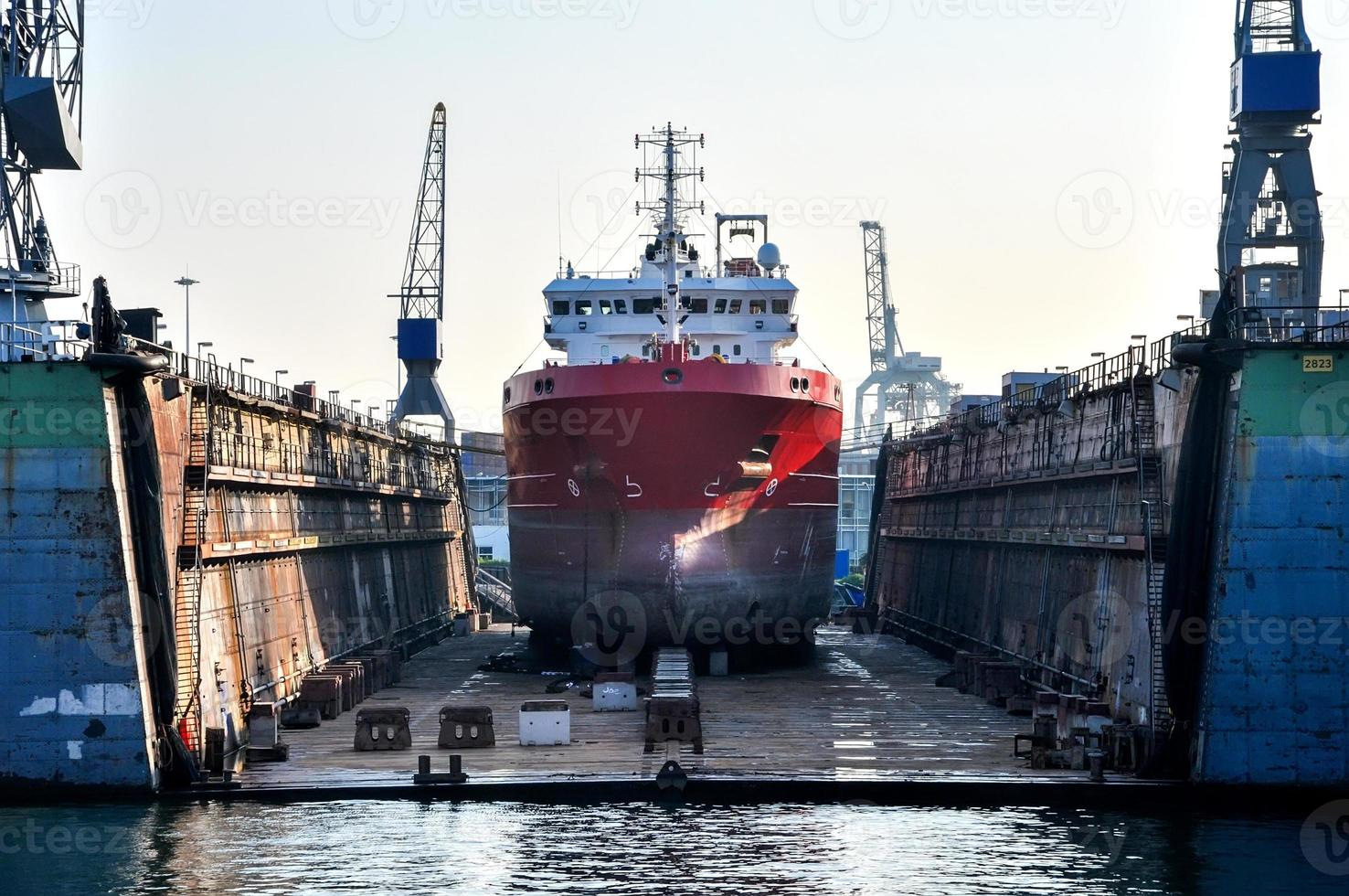 ship in a floating dock photo