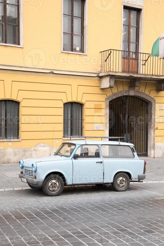 Old car in Budapest photo