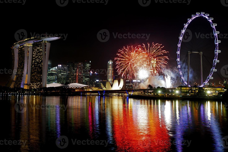 fuegos artificiales de singapur foto