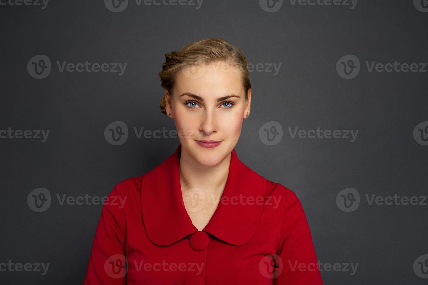 Portrait of a beautiful young business woman photo