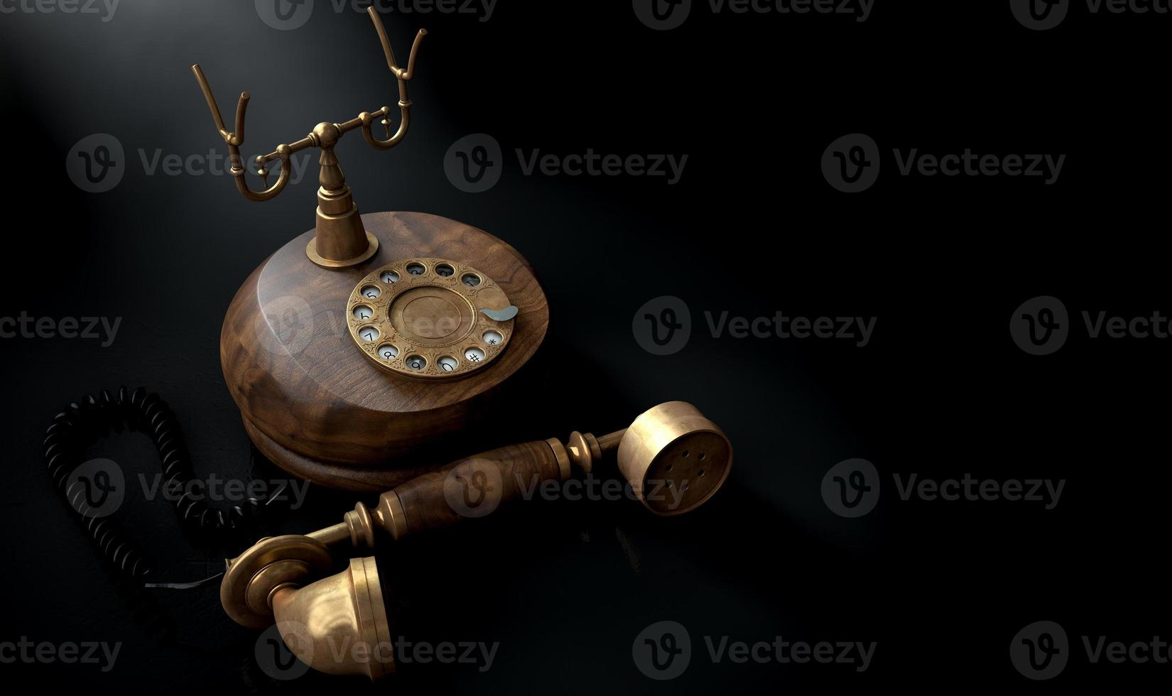 Vintage Telephone Dark Off The Hook photo