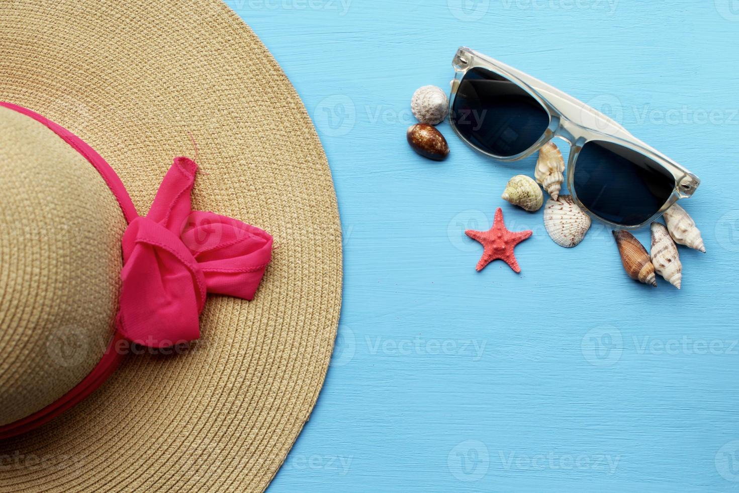 Hat and sunglasses - summertime fashion photo